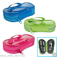 MANICURE / PEDICURE NAIL SET - FLIP FLOP CASE - BIRTHDAY PARTY / LOOT / GIFT BAG