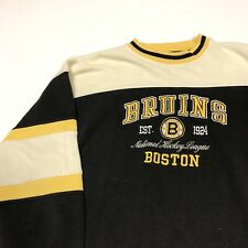 Vintage Boston Bruins Crewneck Sweatshirt Mens Adult XL Pro Player Hockey NHL