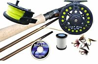 Fly Fishing Kit Rod Loaded Reel Floating Line, backing, Leader & Flies