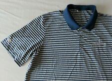 "ADIDAS Golf Poloshirt "" Hudson Junior nvitational"" - grau / blau gestreift - XL"