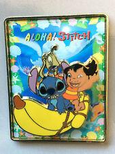 Disney Tokyo Japan JDS Aloha Stitch on Banana Boat Lilo & Pleakley Pin