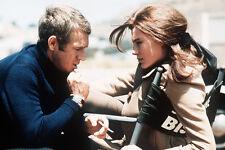 Steve Mcqueen On Set Of Bullitt Talking With Jacqueline Bissett 11x17 Poster