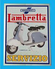 LAMBRETTA 150  - TARGA IN METALLO -  RIPROD.  D'EPOCA
