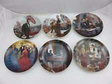 Lincoln Man Of America Series Collector's Plates 6pc Set w/Boxes & COA's