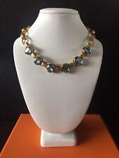 Catherine Popescu La Vie Parisienne Victorian Style Blue Crystal Necklace