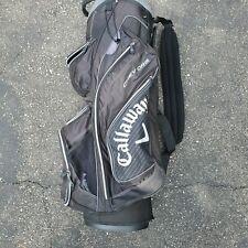 Used Callaway ORG 14 Chev Golf Cart Bag   Black, White No Rain Cover Jack Daniel