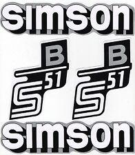 Simson S51 Aukleber silber -weiß