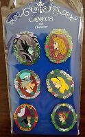 Disneyland Annual Passholder Limited Edition Pin Set of 6 Cameos with Character