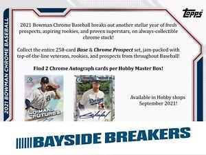 New York Mets 2021 Bowman Chrome Hobby Baseball Full Case (12 Box) Break #1