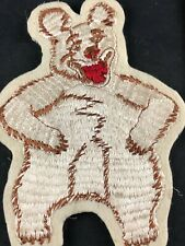"""Large 5"""" Laughing Bear Vintage Sew-On Patch Embroidered Sew on Decal"""