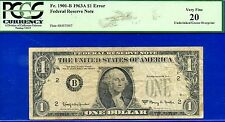 New listing *1963-A $1 Frn * Error Note *( Missing Seal & Serial Numbers ) Pcgs Vf-20