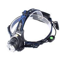 ZOOM 20000LM XM-L XML T6 LED POWER Headlamp Headlight Lamp Light Switch On Line