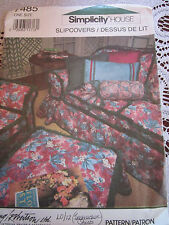 Simplicity 7485 SLIPCOVERS (COUCH CHAIR OTTOMAN) Sewing Pattern One SZ COMPLETE!