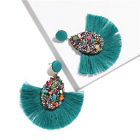 Fashion Bohemian Statement Big Tassel Earrings Drop Dangle Earrings for Women @