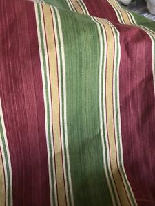 Waverly Williamsburg Spotswood Stripe FULL Bed Skirt GREEN GOLD RED NWOT
