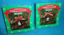 Lot of 2 Papel Christmas Cookie Cutter Ornaments Santa and Snowman