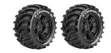 Louise RC X-CYCLONE Sport-Reifen Felge schwarz TRAXXAS X-MAXX 1:5 Hex24mm (2)