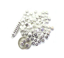 25 SILVER PLATED HEISHE METAL SPACER BEADS 4MM