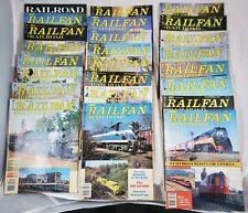 23 Vintage Railfan & Railroad Magazines 1981-1984 Mixed Lot, Trains