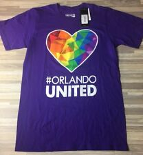 "Adidas Orlando City FC ""Orlando Pride"" MLS GoTo Tee Men's Size SMALL LGBT NWT"