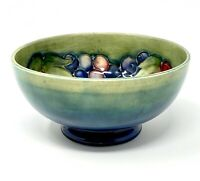 Moorcroft Pottery - Leaf and Berry footed bowl