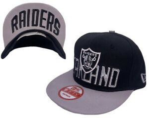 NFL Oakland Raiders Multi-Color Flat Bill Hook And Loop Snapback Hat By New Era