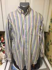 Men's Daniel Cremieux Button Down Long Sleeve Shirt Multicolor Striped Large