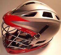Cascade Pro 7 Lacrosse Helmet Red & Gray