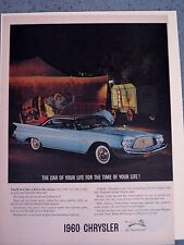 1960 CHRYSLER - VINTAGE AMERICANA  NEWSPAPER  AD.