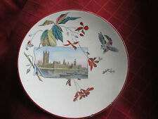 victorian plate with houses of parliament  picture