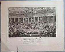 """Burin, HELMAN d'après MONNET, """"Assemblée Nationale"""", tirage du 18e siècle"""