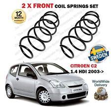 Per CITROEN c2 1.4 HDI Diesel 9/2003 -- > Su Nuovo 2 X Anteriore Molle a Spirale Set