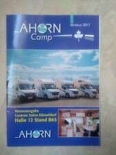 Prospekt Wohnmobil Ahorn 2017