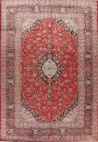 8x11 Vintage RED Traditional Floral Area Rug WOOL Hand-Knotted Oriental Carpet