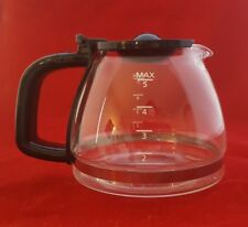 5 Cup Coffee Maker Replacement Glass Carafe Pot W/ Black Trim