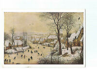 PEINTURE  PEINTRE  PIETER BRUEGEL  WINTER LANDSCAPE WITH SKATERS AND BIRD TRAP