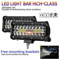7''400W LED Work Light Bar Flood Spot Beam Offroad 4WD SUV Driving Fog Lamp Top+