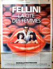 Affiche cinéma pliée 120 x 160 cm-La cité des femmes (1979) De Fellini Avec Marc