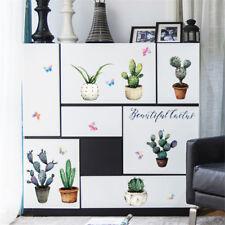 diy cactus removable wall decal family home sticker mural art decoratio✔GB MC
