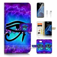 ( For Samsung S7 ) Wallet Case Cover P1789 Eye of Horus