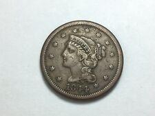 1844 Braided Hair Large Cent, N-4