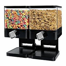 Large Cereal Dispenser Storage Double Dry Food Snack Container Kitchen Canister