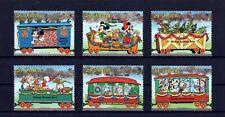 St Vincent - 1988 - Disney - Christmas Train - Mickey - 6 X Mint - Mnh Set!