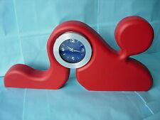 red prayer designer clock by Paul Harrison no 32