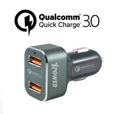 Xpower CC2Q3 36W Dual Qualcomm 3.0 Quick Charge 2 Ports 36W Car Charger Grey