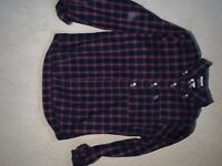 Mens Abercrombie & Fitch Checked Red And Blue Muscle Shirt - Size Small