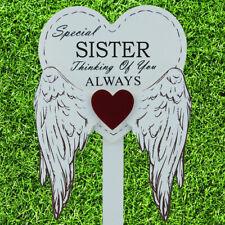 Special Sister Graveside Memorial Angel WIngs Tribute Grave Stick Marker 76170