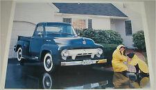 1954 Ford F100 Pickup truck print  (green)