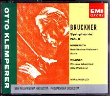 Otto KLEMPERER: BRUCKNER Symphony No.8 HINDEMITH Nobilissima Visione WAGNER 2CD