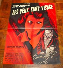 EYES WITHOUT A FACE (1959) Original French Poster LES YEUX SANS VISAGE Mascii